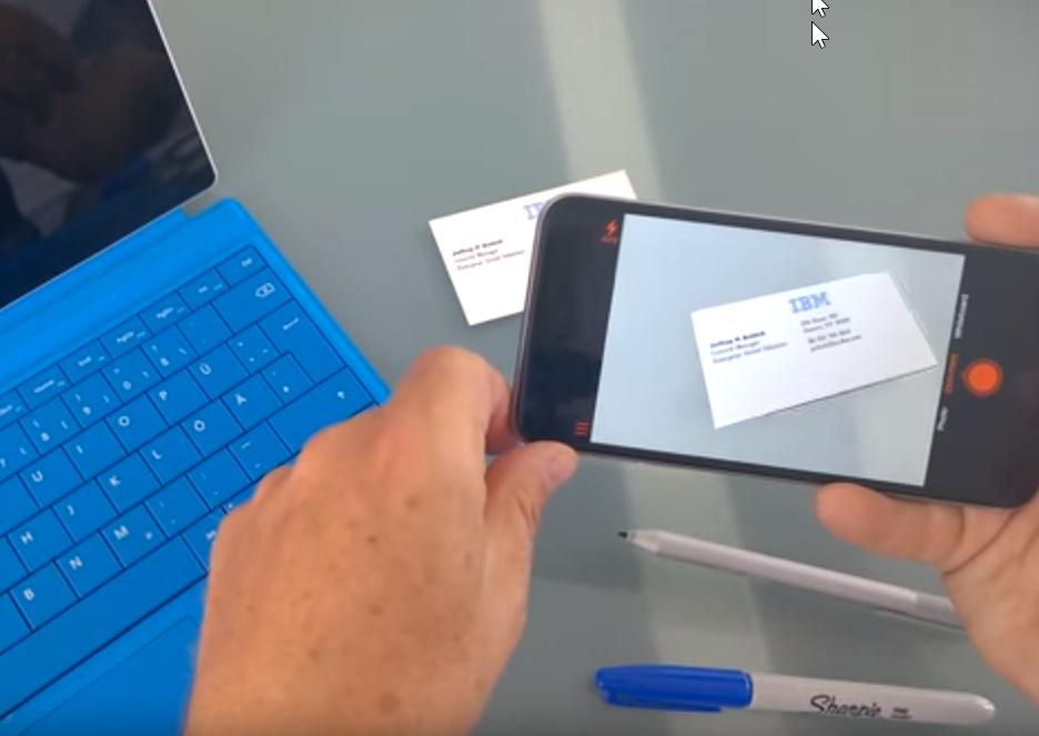 Notizen und Visitenkarten scannen mit OfficeLens für Office 365