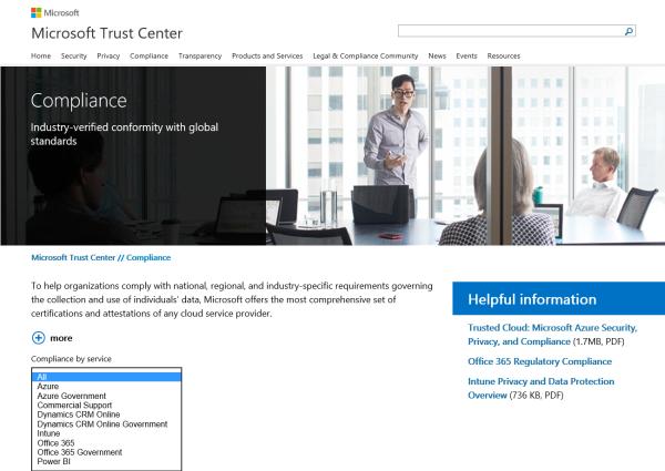 Die Microsoft Cloud - geprüft, zertifiziert und konform zu vielen Standards