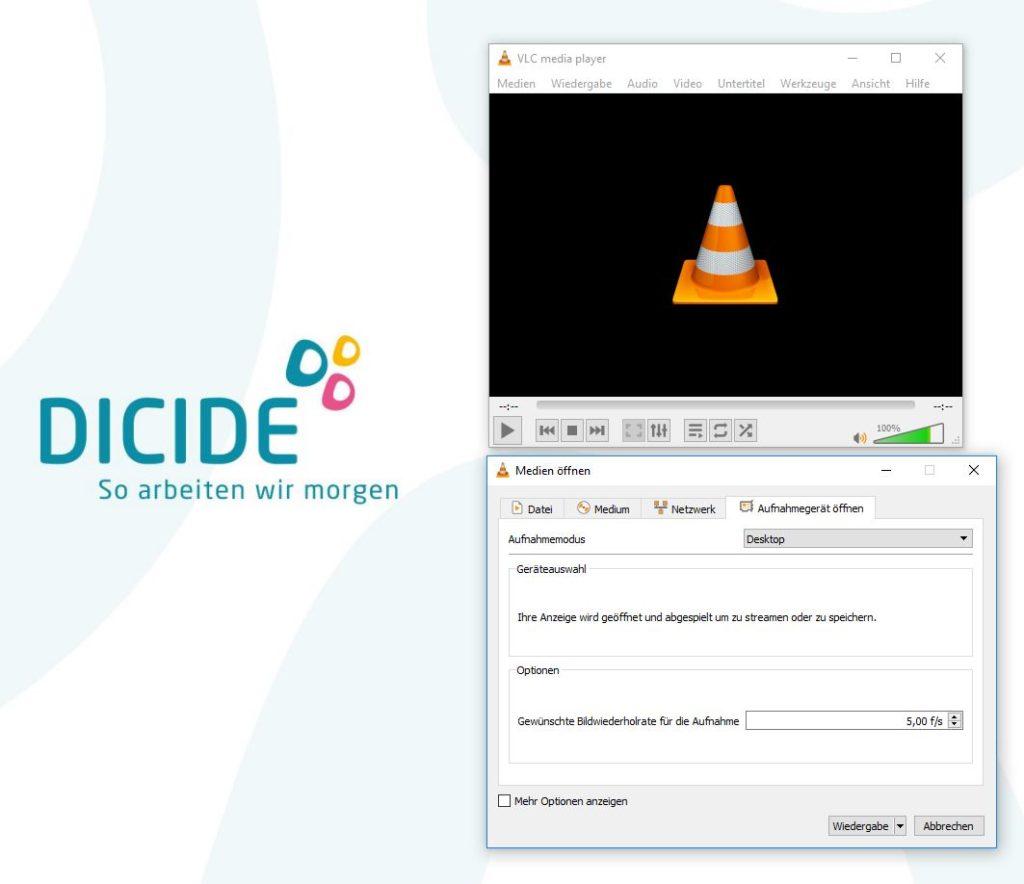 Bildschirmvideo mit dem VLC player