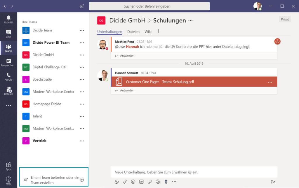 Microsoft Teams einrichten