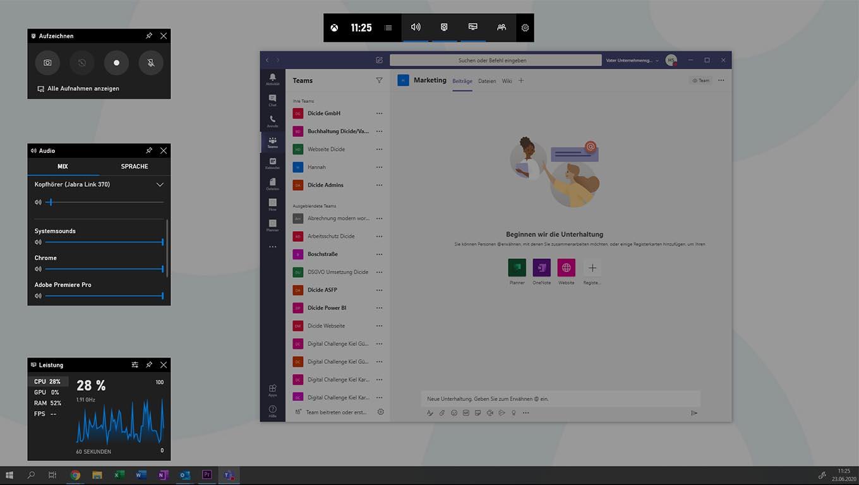 Bildschirmaufnahme Teams